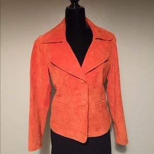 Chico's leather suede jacket